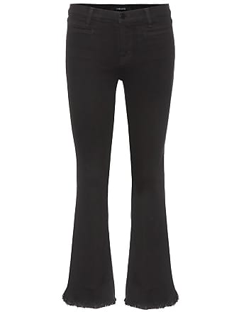J Brand Crop Flare mid-rise jeans