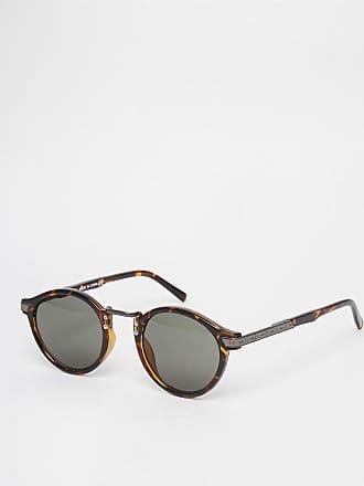 8af68ef46c3 Asos Occhiali da sole con lenti tonde in stile vintage - Marrone