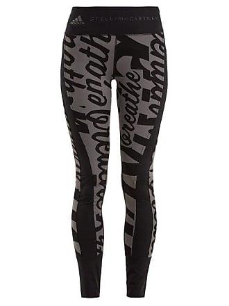 adidas by Stella McCartney Adidas By Stella Mccartney - Writing Print  Stretch Training Leggings - Womens 4e43bec656