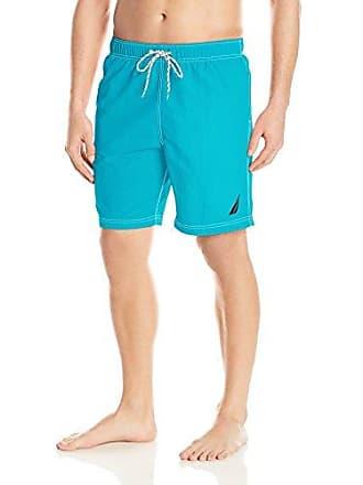6c090fb8b3 Nautica Mens Solid Quick Dry Classic Logo Swim Trunk, Bright Blue jig, XX-