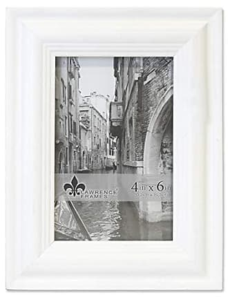 Lawrence Frames Lawrence Woods Picture Frame, 4x6, White