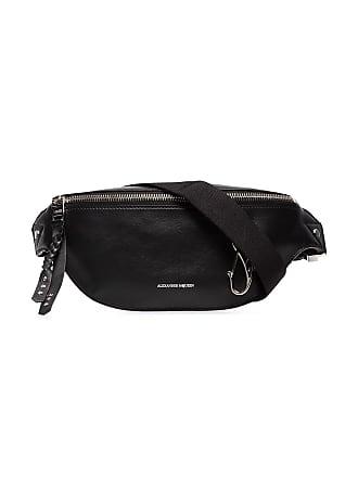 Alexander McQueen Logo leather belt bag - Black