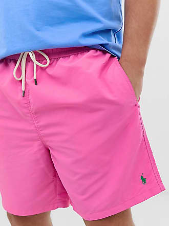 fe85b42cc1fdb Polo Ralph Lauren Big & Tall Traveler player logo swim shorts in pink