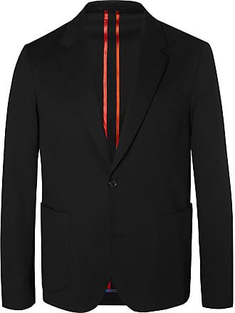 Paul Smith Black Slim-fit Unstructured Stretch-cotton Blazer - Black