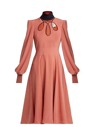Roksanda Ilincic Adena Silk Dress - Womens - Pink Multi