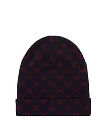 Gucci Mens Double-G Alpaca-Wool Beanie - Navy Size M 5ad40bf1e49