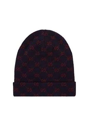 e4744f15191 Gucci Mens Double-G Alpaca-Wool Beanie - Navy Size M