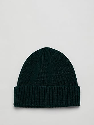 b02f4e3c721 Asos fisherman beanie in bottle green recycled polyester - Green