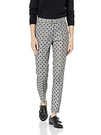 Nicole Miller Womens Menswear Fashion Pant, Grey/Multi Plaid, 14
