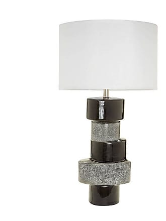 Dimond Home ELK Home Stacked Oval 1-Light Table Lamp in Gray And Black