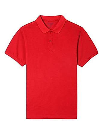 Nautica Mens Young Uniform Short Sleeve Stretch Pique Polo, Solid red, X-Large(40/42)