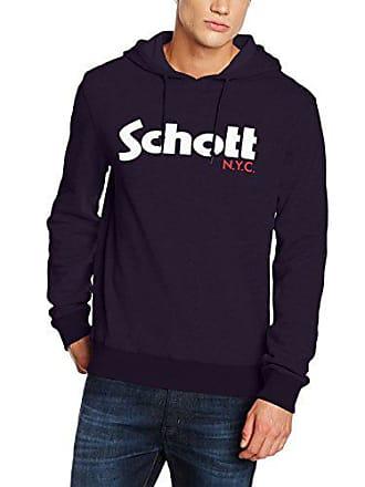 Schott NYC Schott Nyc Swhood, Sweat-Shirt à Capuche Homme, Bleu (Navy 047532b9157