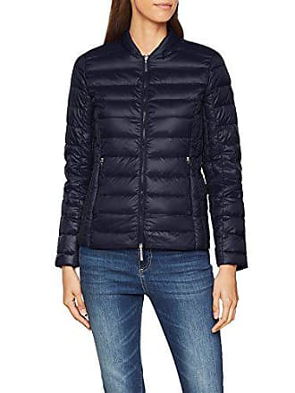 A|X Armani Exchange Womens Zip Up Fitted Down Jacket, Navy, M