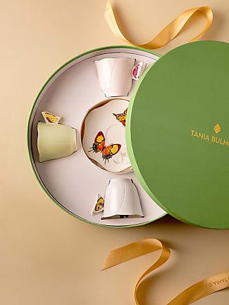 Tania Bulhões Set Xícara de Chá Borboleta 4 lugares - Lifestyle