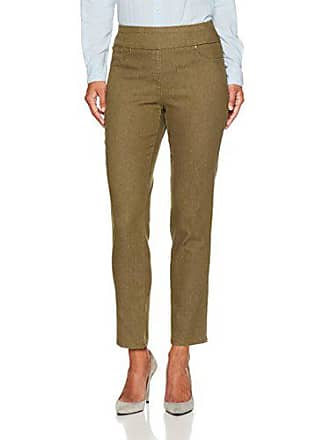 Ruby Rd. Womens Petite Pull-on Colored Extra Stretch Denim Pant, Olive, 6P