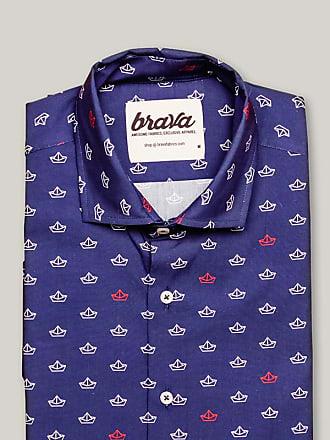 Brava Fabrics Printed Short Sleeve Shirt Paper Boat