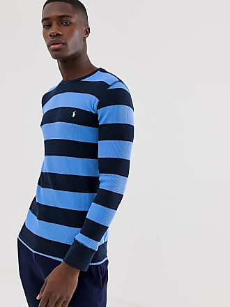 ffafc8313 Polo Ralph Lauren waffle knit crew neck long sleeve t-shirt with polo  player logo