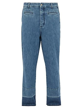 Loewe Fisherman Mid Rise Straight Leg Jeans - Mens - Blue