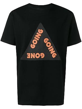 Wood Wood Camiseta com estampa de slogan - Preto