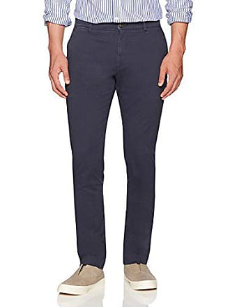 Goodthreads Mens Slim-Fit Washed Stretch Chino Pant, Navy, 29W x 34L