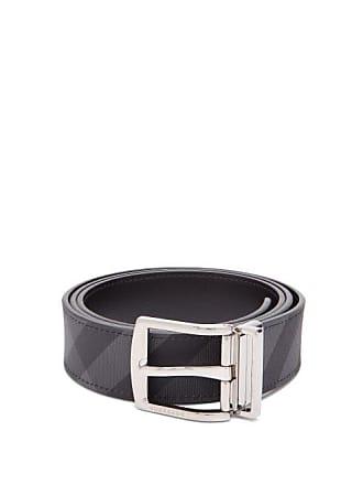 4f7e00cbc5fb Burberry London Check Reversible Belt - Mens - Grey