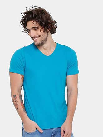 KOHMAR Camiseta Kohmar Gola V Básica Masculina - Azul Turquesa - G