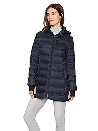 William Rast Womens Packable Down Parka, Midnight L