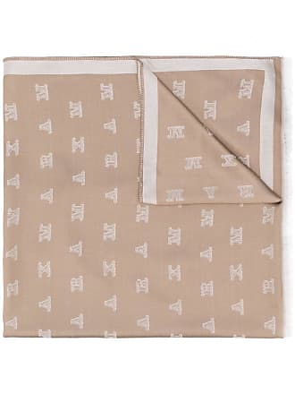 Max Mara monogrammed jacquard scarf - Marrom