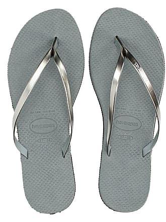 9d3c4a11625d8e Havaianas You Metallic slippers grijs