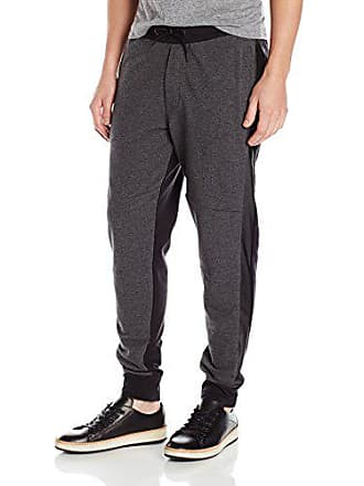 2a8bda19 Kenneth Cole Reaction Mens Jogger Pant with Pleather, Charcoal Heather,  Large