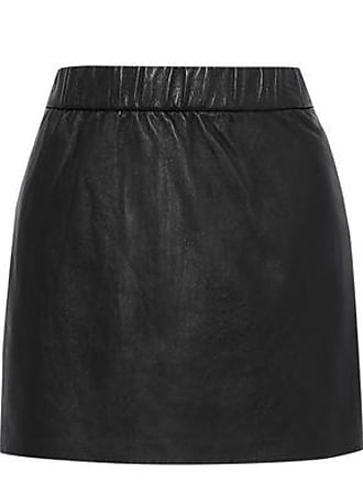 Frame Denim Frame Woman Leather Mini Skirt Black Size XL