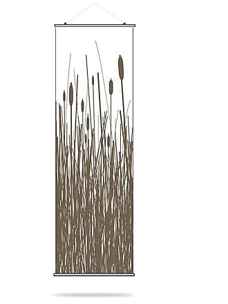 Inhabit Cattails Canvas Wall Art Chocolate - CATC_1616C