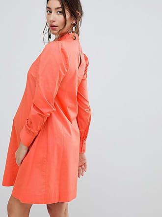 291a7617e6c Asos Maternity mini dress with Lattice Front - Orange