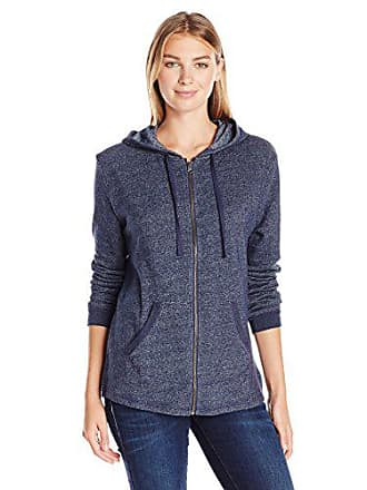 Hanes Womens French Terry Full-Zip Hoodie, Navy Heather, Large