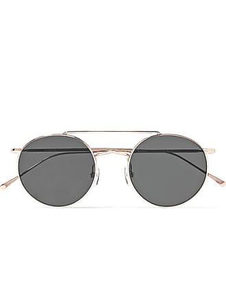 4922ca2451 Illesteva Allen M Round-frame Rose Gold-tone Sunglasses