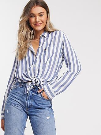 Hollister long sleeve shirt in blue stripe