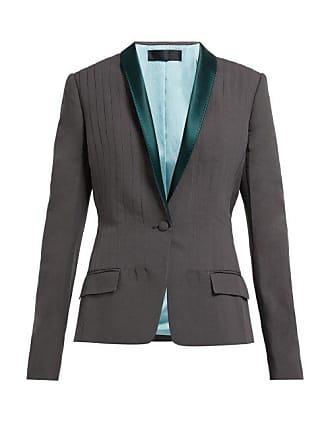 Haider Ackermann Shawl Lapel Single Breasted Cotton Blend Blazer - Womens - Grey
