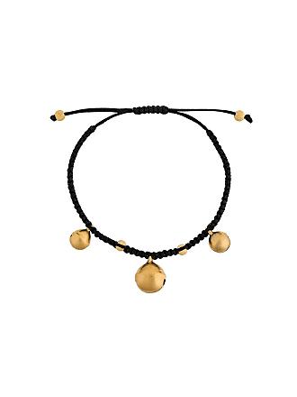 Eye M By Ileana Makri Bracelete com pingentes banhados a ouro - Preto