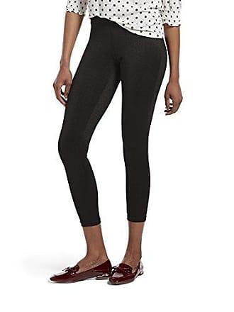Hue Womens Ponte Leggings, Assorted, Black - Shimmer, L