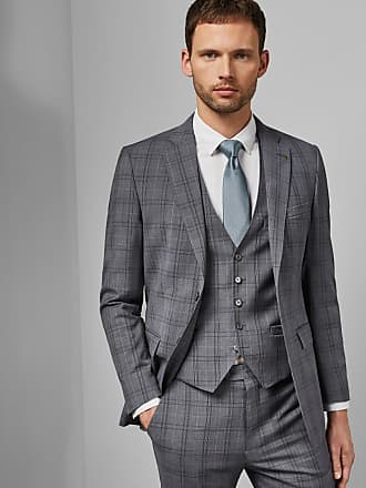 Ted Baker Debonair Check Wool Waistcoat in Lilac FLYDEBW, Mens Clothing