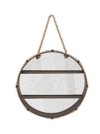 UMA Enterprises Inc. Deco 79 93936 Metal & Rope Wall Shelf