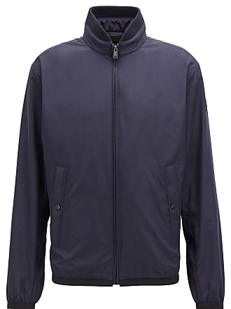 BOSS Hugo Boss Water-repellent blouson jacket in peach-touch technical fabric 34R Dark Blue