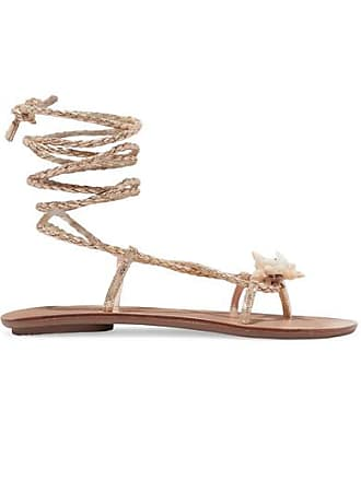 5260c9e03 Loeffler Randall Shelly Embellished Braided Metallic Leather Sandals - Gold