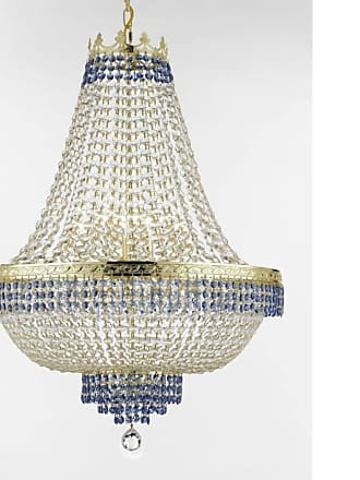 Gallery T22-2511 Empire 14 Light 30 Wide Crystal Empire Chandelier