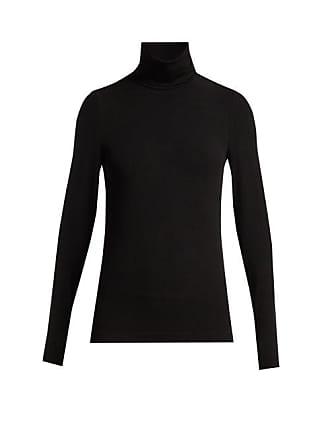 Wolford Aurora Roll Neck Jersey Top - Womens - Black