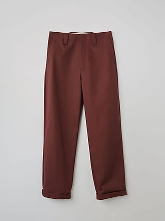 Acne Studios FN-MN-TROU000134 Chestnut brown Cropped chino trousers