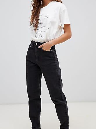 Weekday Lash organic cotton high waist mom jean in black