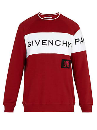 Givenchy Logo Embroidered Cotton Sweater - Mens - Red