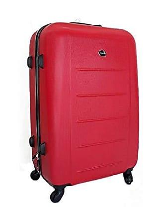 Yin's Mala de Viagem Média ABS c/Carrinho Vermelha Yins 21018V