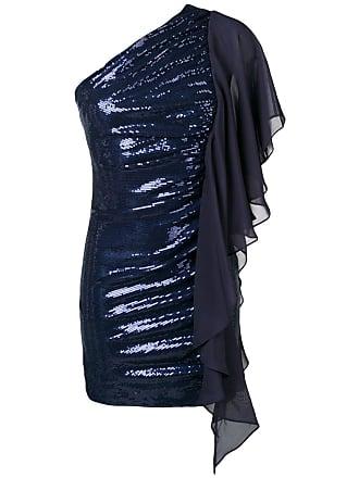 Just Cavalli one-shoulder sequinned dress - Blue